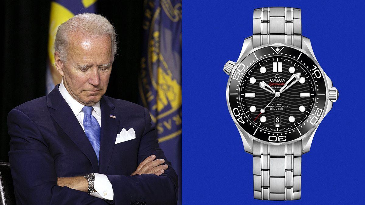 Joe Biden thường xuyên đeo đồng hồ Omega