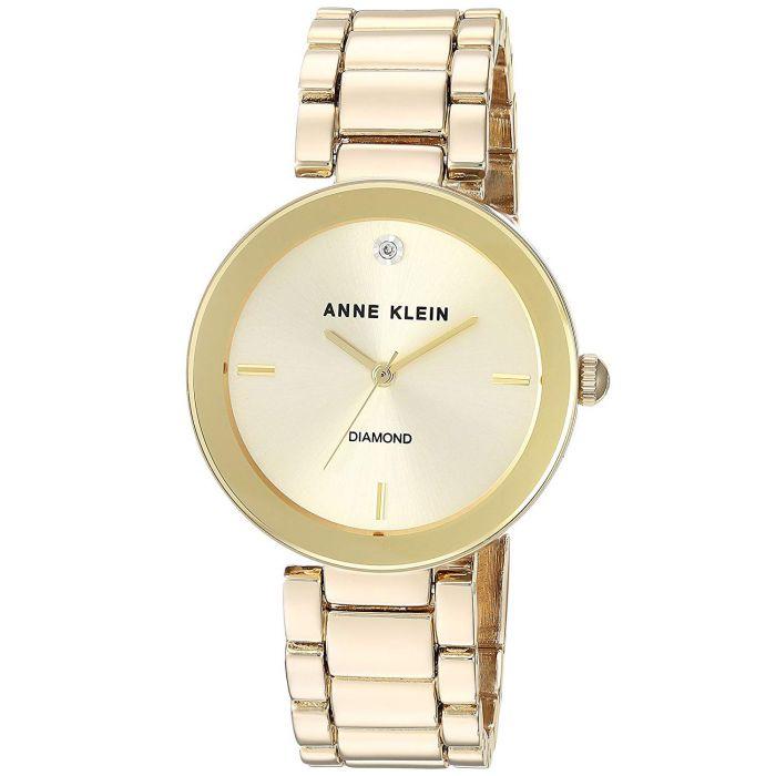 Anne Klein Champagne Diamond Accented Bracelet Gold AK/1362CHGB
