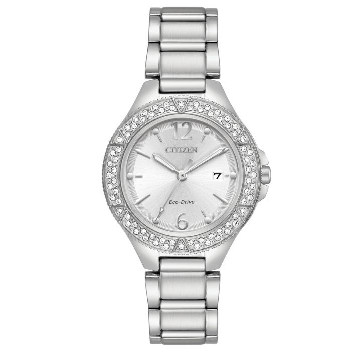 Citizen Eco-Drive Silhouette Crystal Silver Women's Watch FE1160-54A