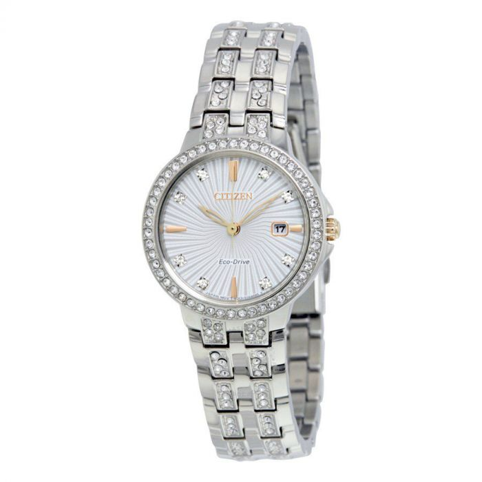 Citizen Silhouette Crystal Silver Women's Watch EW2340-58A