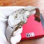 Tissot PR 100 Chronograph Mặt Tròn Dây Kim Loại Màu Bạc Lịch Ngày T101.417.11.031.02