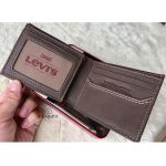 Levi's Men's Slim Bifold Genuine Leather Casual Thin Slimfold Brown Wallet 31LV1344 200