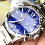 Caravelle New York Logan Chronograph Blue Dial Men's Watch 43A116