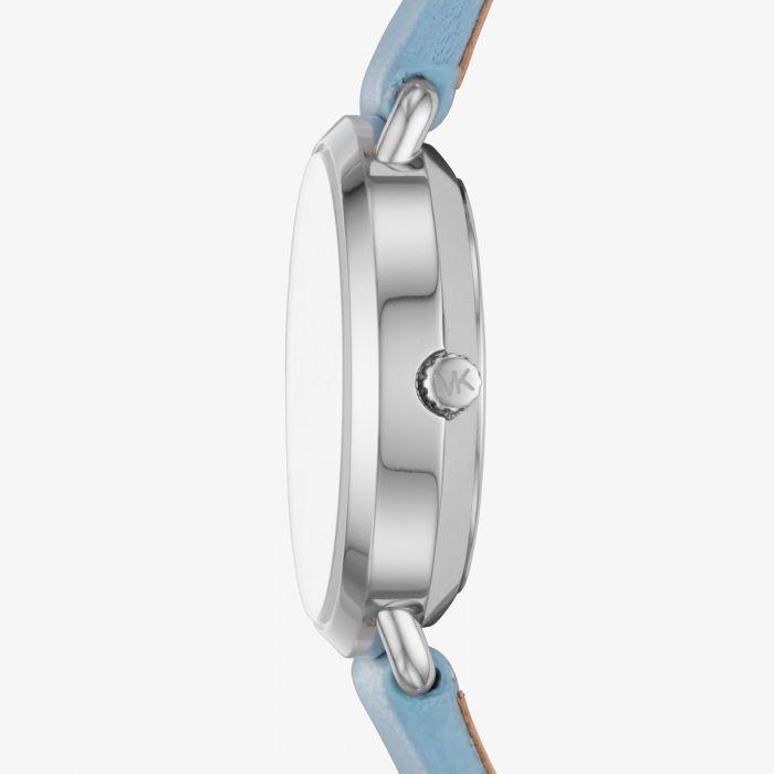 Michael Kors Petite Portia Blue Leather Women's Watch MK2733