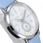 Michael Kors Petite Portia Blue Leather Women's Watch MK2733