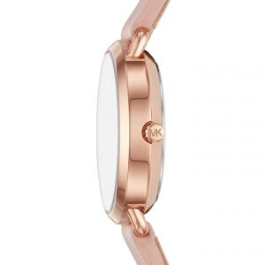 Michael Kors Petite Portia Pink Leather Women's Watch MK2735