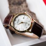 Citizen Gents Elegant Brown Leather Men's Watch AW1232-12A