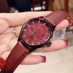 Fossil Sophisticate Multifunction Wine Leather Women's Watch BQ3285