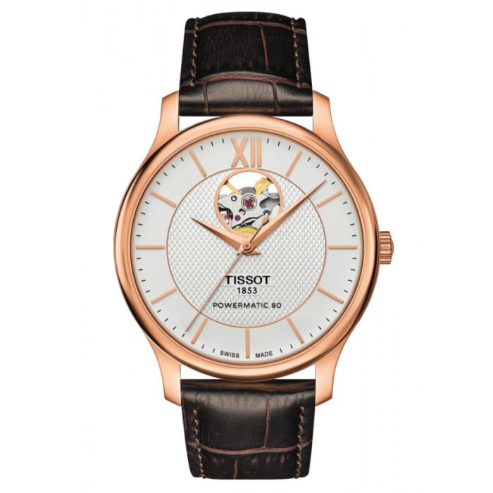 Tissot Tradition Automatic Powermatic 80 Open Heart Men's Watch T063.907.36.038.00