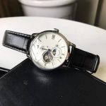 Orient Classic Sun And Moon Gen 4 Open Heart Automatic Black Leather Men's Watch RA-AS0005S10B
