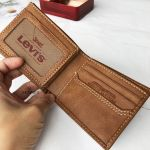 Levi's Slim Bifold Genuine Leather Casual Thin Slimfold with Extra Capacity and ID Window Men's Wallet 31LV1344 251