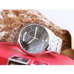 Tissot T-One Automatic Mặt Tròn Màu Đen Dây Kim Loại Màu Bạc Lịch Ngày Thứ T038.430.11.057.00
