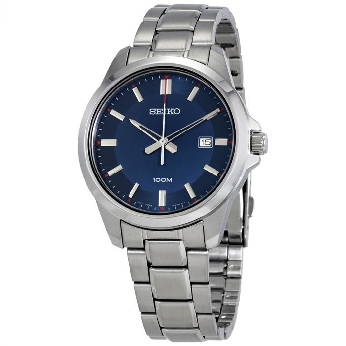 Seiko Classic Blue Dial Stainless Steel Men's Watch SUR243P1