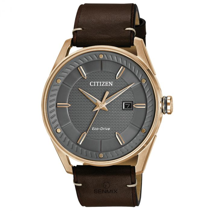 Citizen CTO Drive Grey Dial Gray Dial Brown Leather Strap Men's Watch BM6983-00H