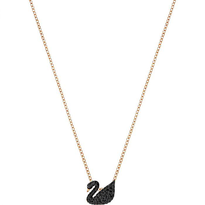 Swarovski Dây Chuyền Màu Vàng Hồng Iconic Swan Thiên Nga Đen Nhỏ 5204133