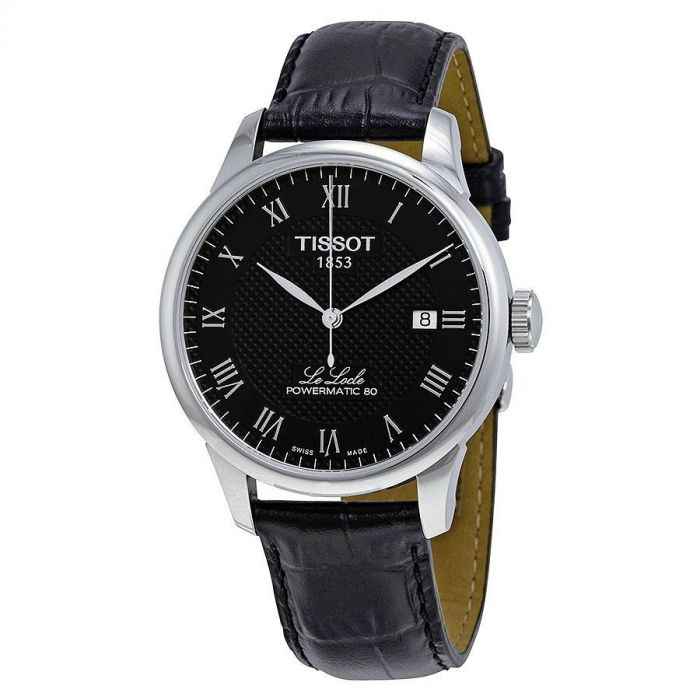 Tissot Le Locle Powermatic 80 Automatic Black Leather Men's Watch T006.407.16.053.00