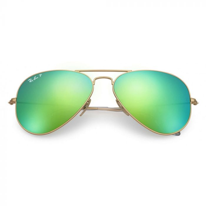 Ray-ban Original Green Flash Polarized Sunglasses RB3025 112/P9