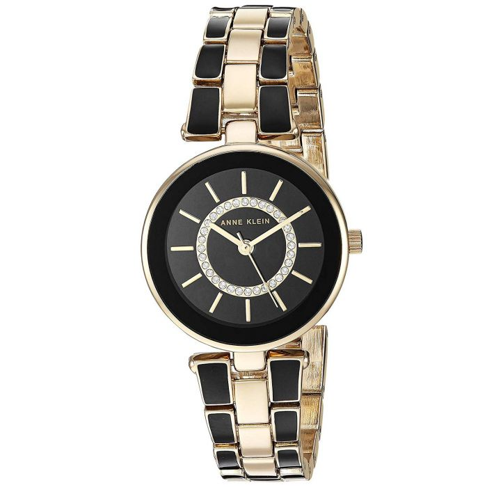 Anne Klein Swarovski Crystal Two Tone Women's Watch AK/3286BKST