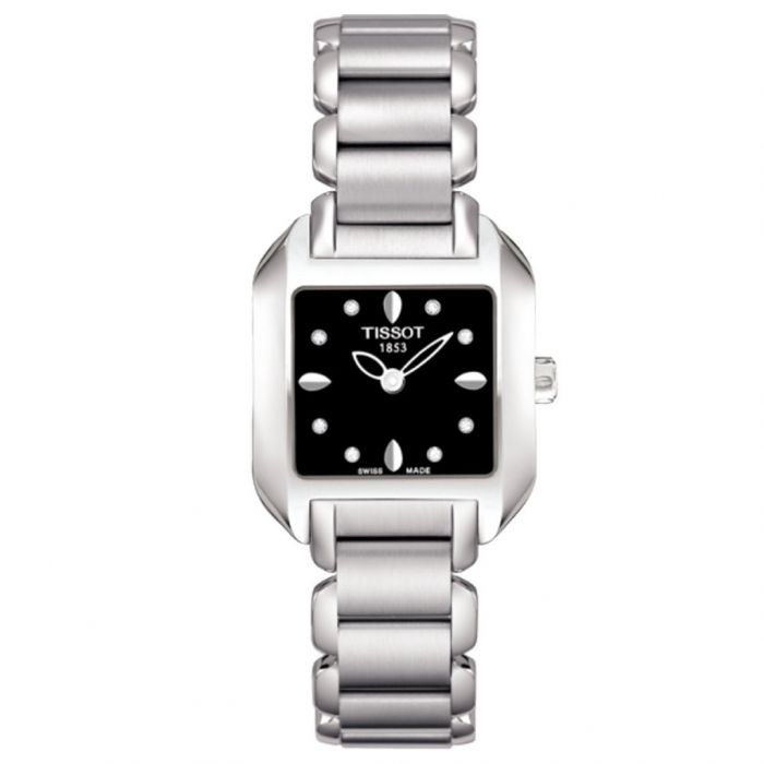 Tissot T-Wave Black Diamond Dial Women's Watch T02.1.285.54