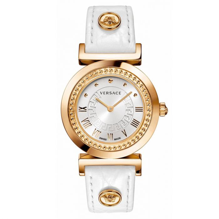Versace Vanity Swiss White Croco Women's Watch P5Q80D001S001