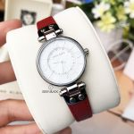 Anne Klein White Dial Red Leather Strap Women's Watch 10/9443WTRD