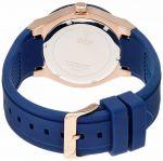 Guess Rose Gold Tone Rigor Blue Silicone Women's Watch U0571L1