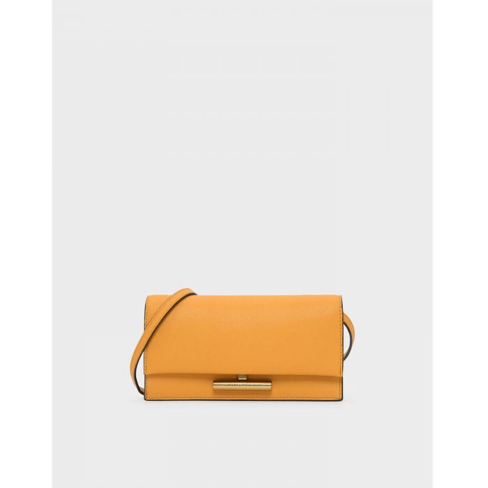 Charles & Keith Metal Accent Long Mustard Women's Wallet CK6-10770328