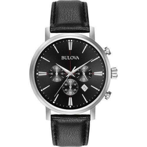 Bulova Aerojet Classic Chronograph Black Dial Men's Watch 96B262