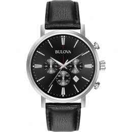 Bulova Aerojet Classic Chronograph Black Dial Men's Watch 96B262