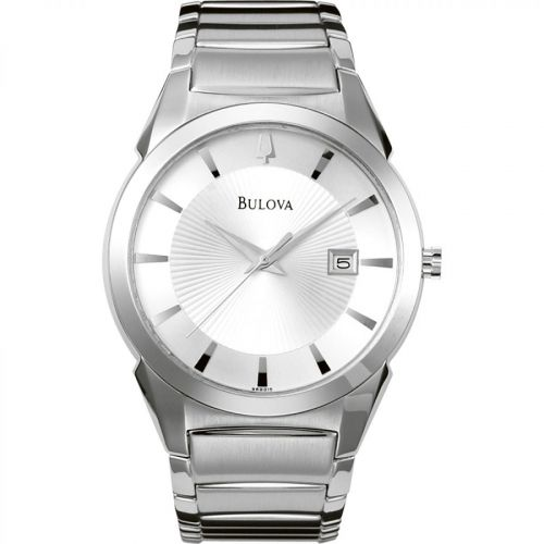 Bulova Essentials Silver DIal Stainless Steel Men's Watch 96B015