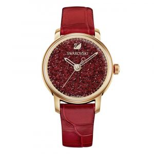 Swarovski Crystalline Hours Red Leather Women's Watch 5295380