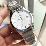 Bulova Essentials Silver DIal Stainless Steel Men's Watch 96B015