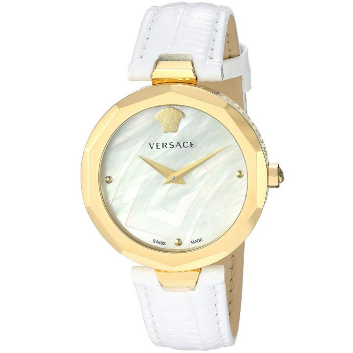 Versace Idyia Gold Leather White Women's Watch V17050017