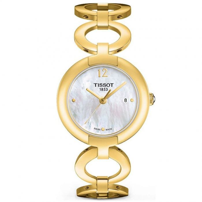 Tissot Pinky Mother of Pearl Day Gold Tone Women's Watch T084.210.33.117.00