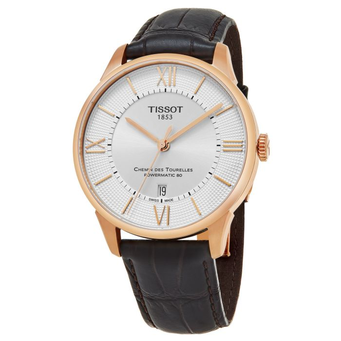 Tissot Chemin Des Tourelles Powermatic 80 Brown Leather Men's Watch T099.407.36.038.00