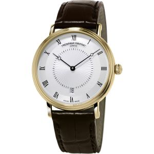 Frederique Constant Slim Line Automatic Guilloche Dial Brown Leather FC-306MC4S35