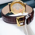 Frederique Constant Slim Line Automatic Guilloche Dial Brown Leather FC-306MC4S35