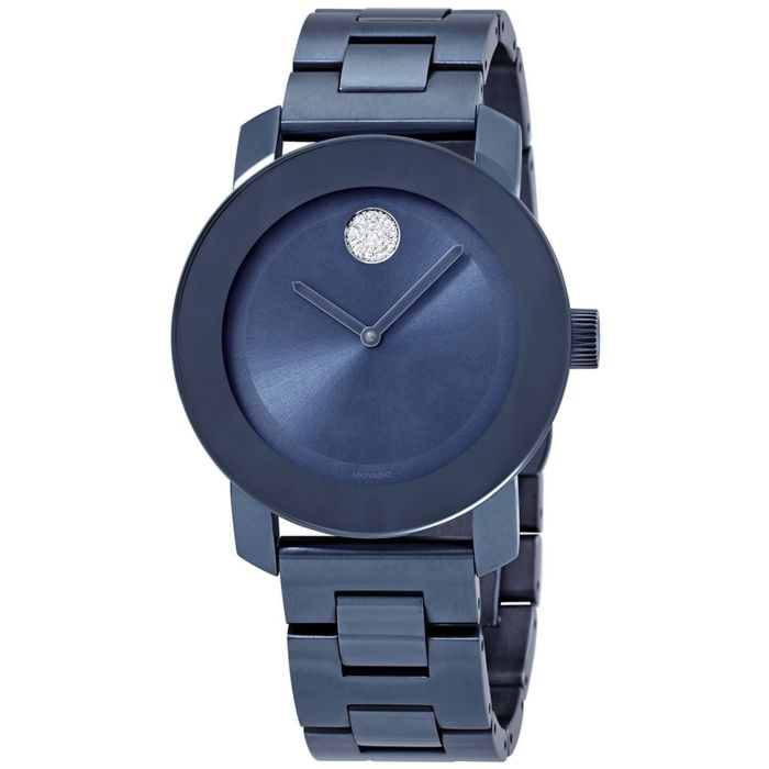 Movado Bold Light Blue Stainless Steel Women's Watch 3600494