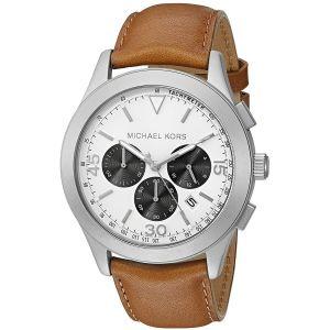 Michael Kors Gareth Chronograph Brown Leather Men's Watch MK8470