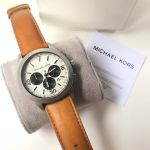 Michael Kors Gareth Chronograph Brown Leather Men's Watch MK8470