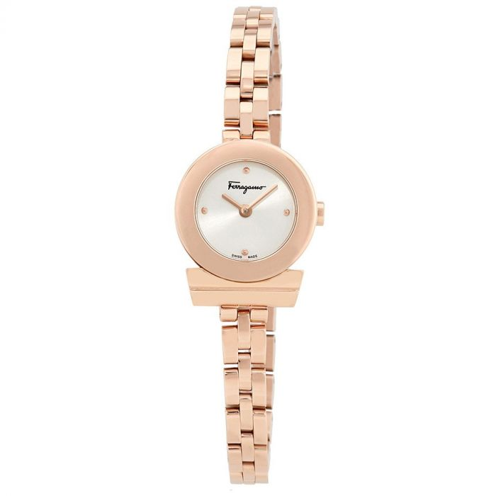 Salvatore Ferragamo Gancino Rose Gold Women's Watch FBF040016