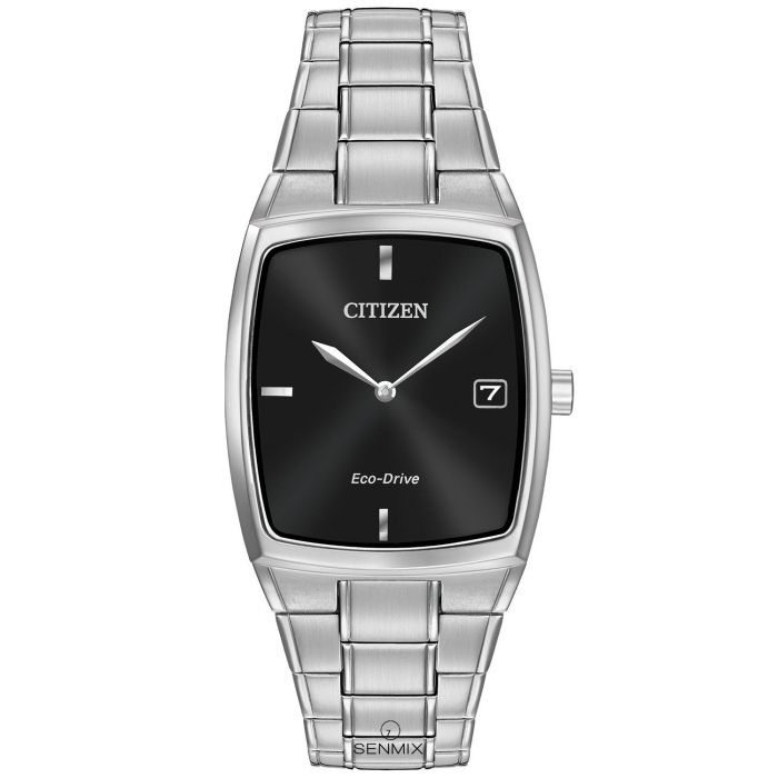 Citizen Eco-Drive Black Dial Stainless Steel Men's Watch AU1070-58E