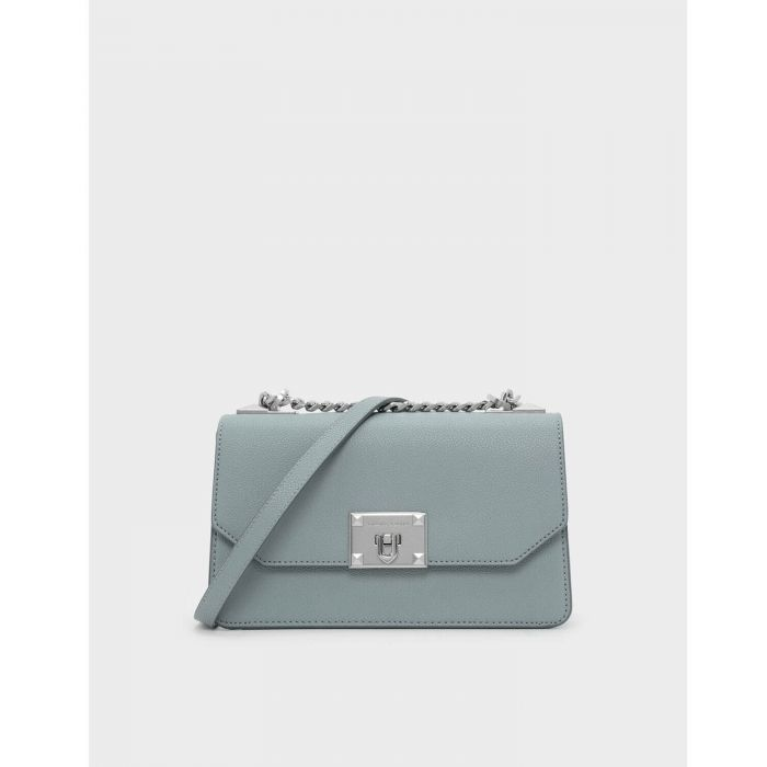 Charles & Keith Classic Crossbody Featuring Slate Blue Women's Bag CK2-80780640
