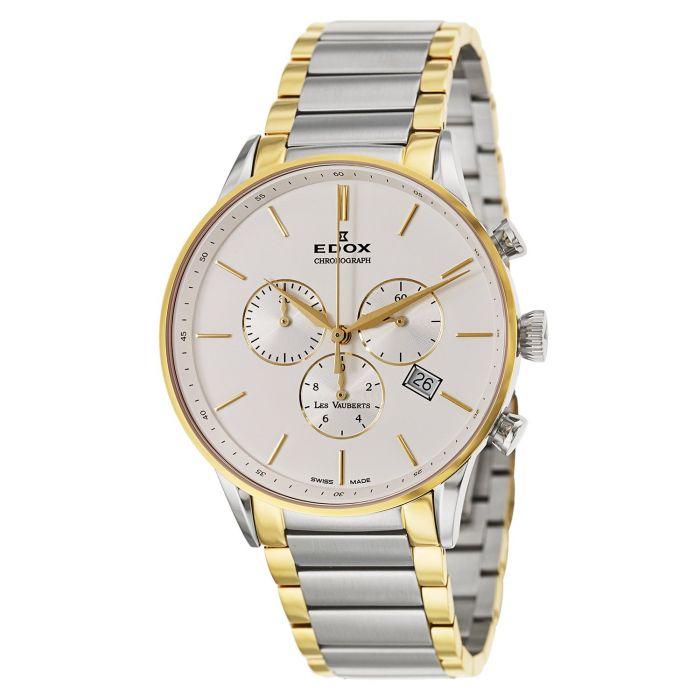 Edox Les Vauberts Chronograph Two Tone Men's Watch 10409-357JA-AID