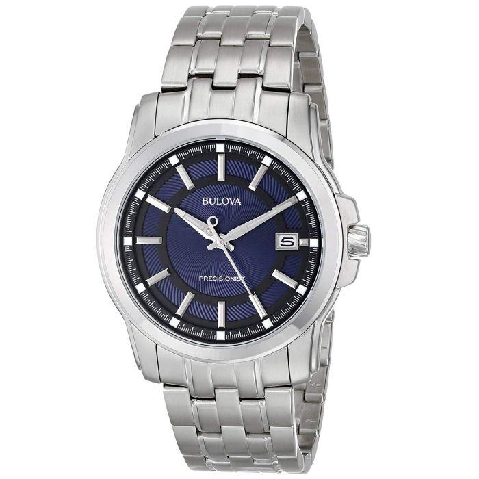 Bulova Precisionist Stainless Steel Blue Dial Men's Watch 96B159