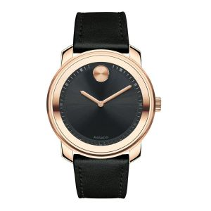 Movado Bold Swiss Black Leather Men's Watch 3600376