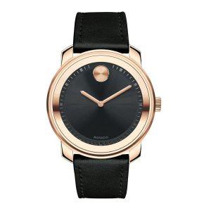 Movado Bold Swiss Black Leather Men's Watch 3600376