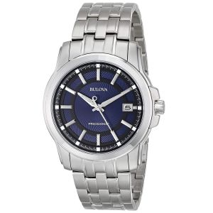 Bulova Precisionist Stainless Steel Blue Dial Men's Watch 96B159