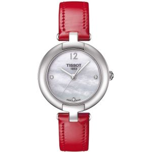 Tissot T-Trend Pinky Mother of Pearl Dial Diamond Ladies Watch T084.210.16.116.00