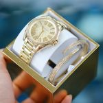 Michael Kors Kacie Gold Sunray Gift Set Women's Watch MK3568
